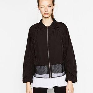 ZARA Contrast Mesh Jacket - Small NWOT